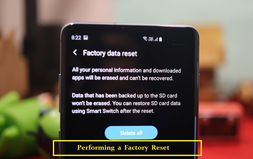 Performing a Factory Reset