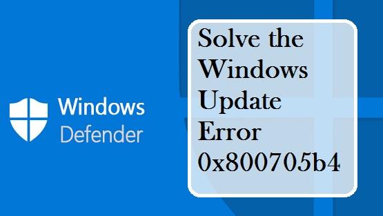 Solve the Windows Update Error 0x800705b4 – coverjunction com