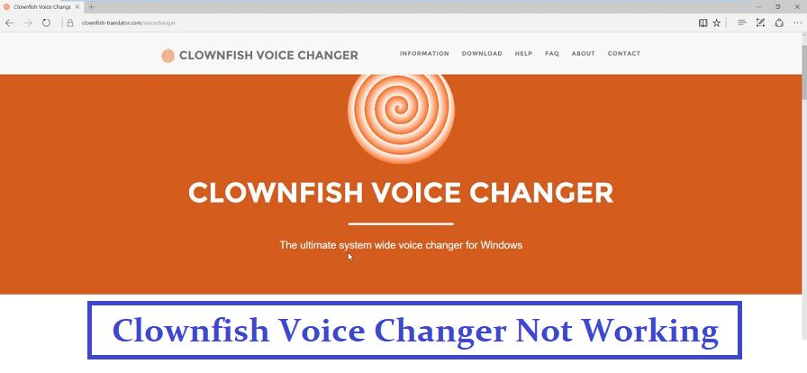 clownfish voice changer not working