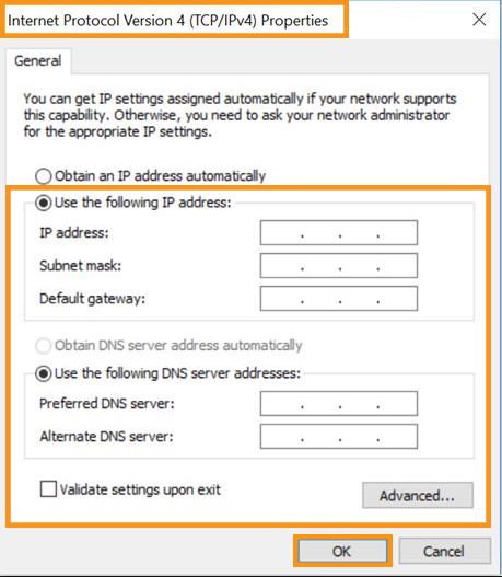 Change Your IP Address Manually