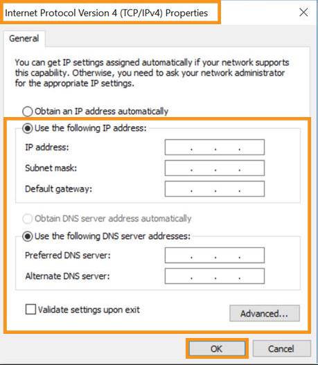 Change Your IP Address Manually