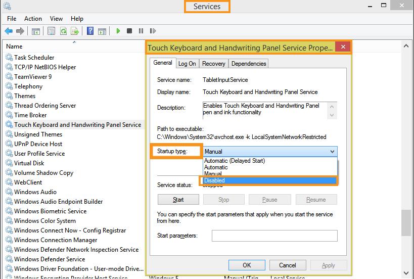 Deactivate CTF Loader(Windows 10)