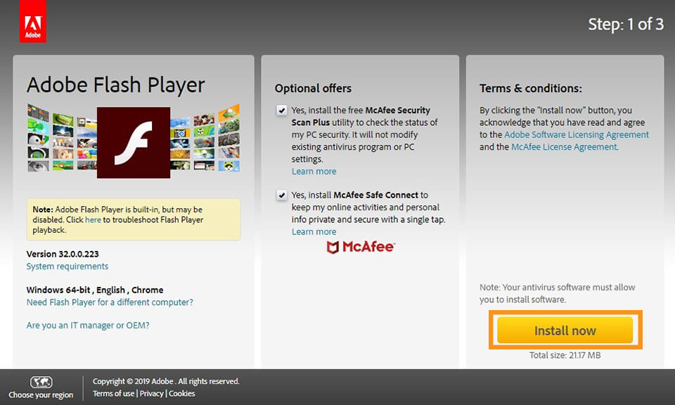 How to Install the Flash Player