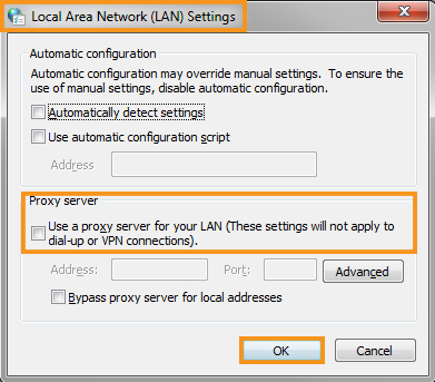 Modify the Internet Connection Settings