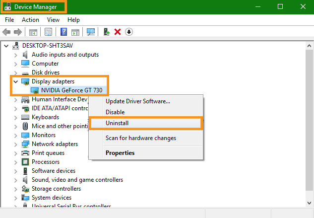 Reinstall the Graphics Card Driver