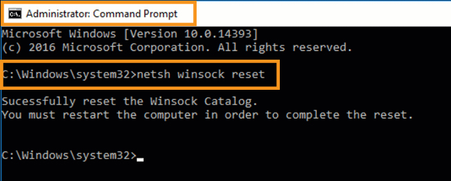 Reset Winsock