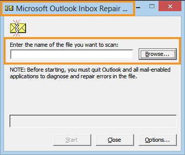 Run the Inbox Repair Tool