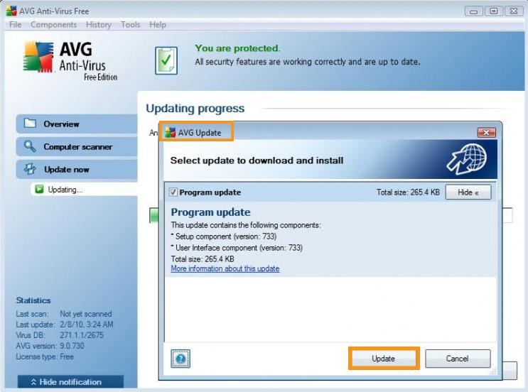 Update AVG/Avast