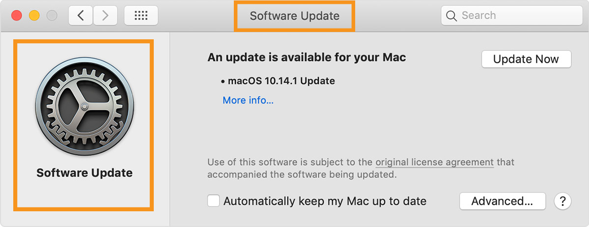 Update the Mac OS