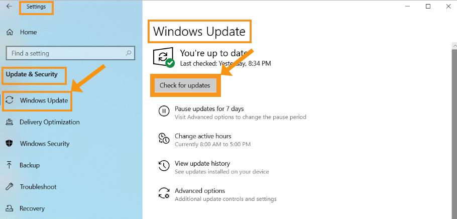 Update your Windows