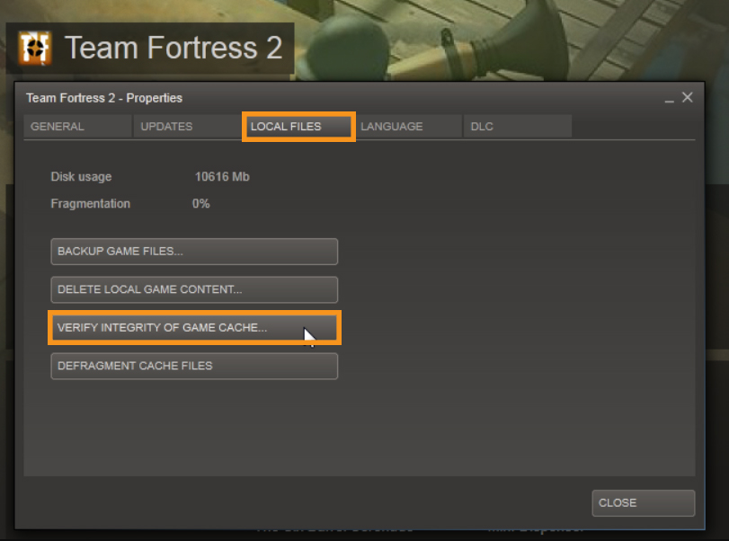 Verifying the Integrity of Game Files