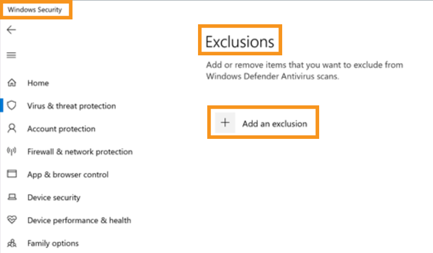 Add Antimalware Service Executable to Windows Defender Exclusion List