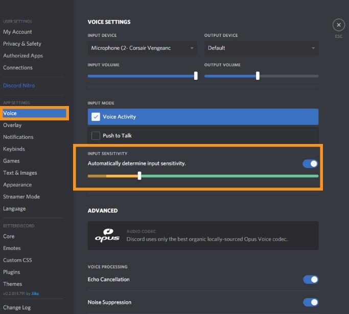 Check the Discord Input Sensitivity settings
