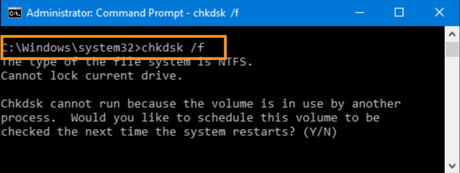 Check the Hardware Disk for Errors