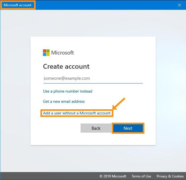 Create a New User Account