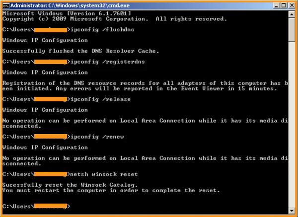 Delete all DNS Cache Memory Files