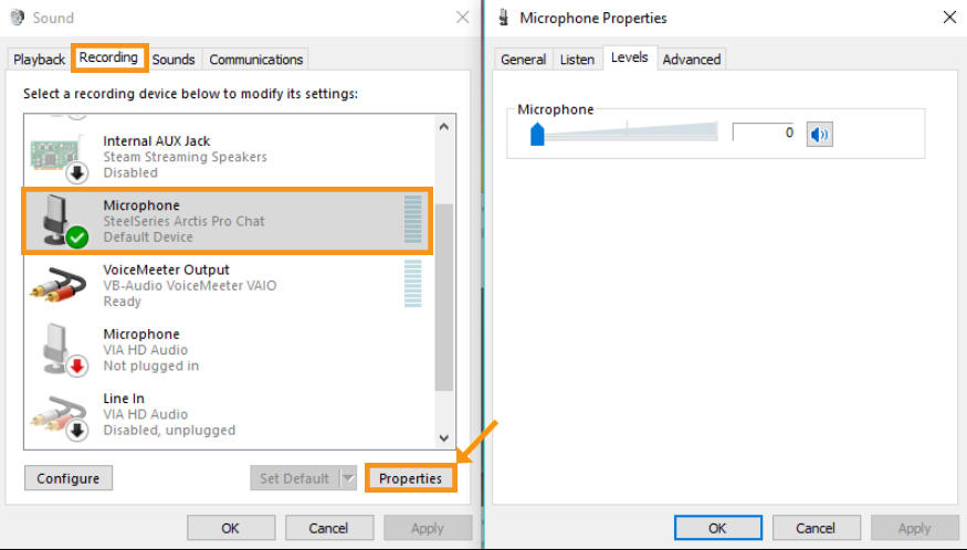 Disable Exclusive Mode in Windows