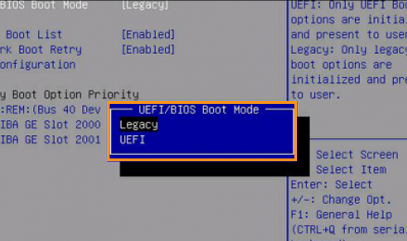 Disable Quick Boot in BIOS