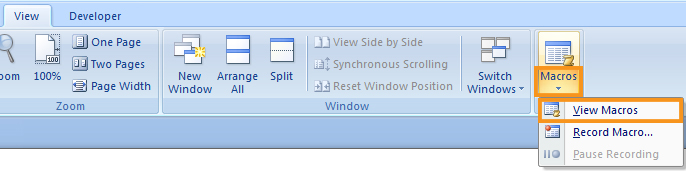 Duplicate a Page in Word using Macros