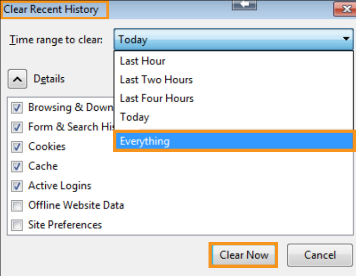 Eliminate Any Firefox Browsing Data
