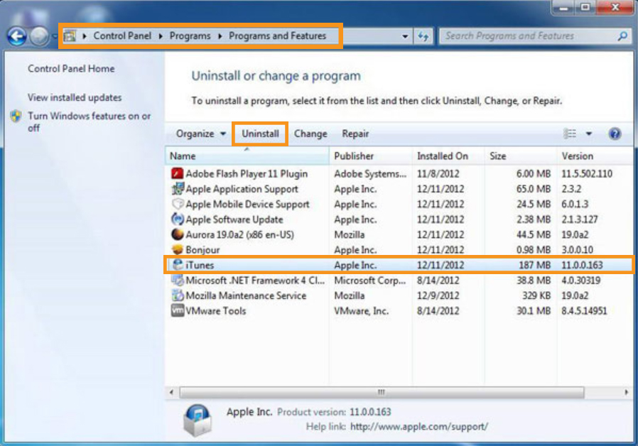 How to Uninstall Itune on Windows PC