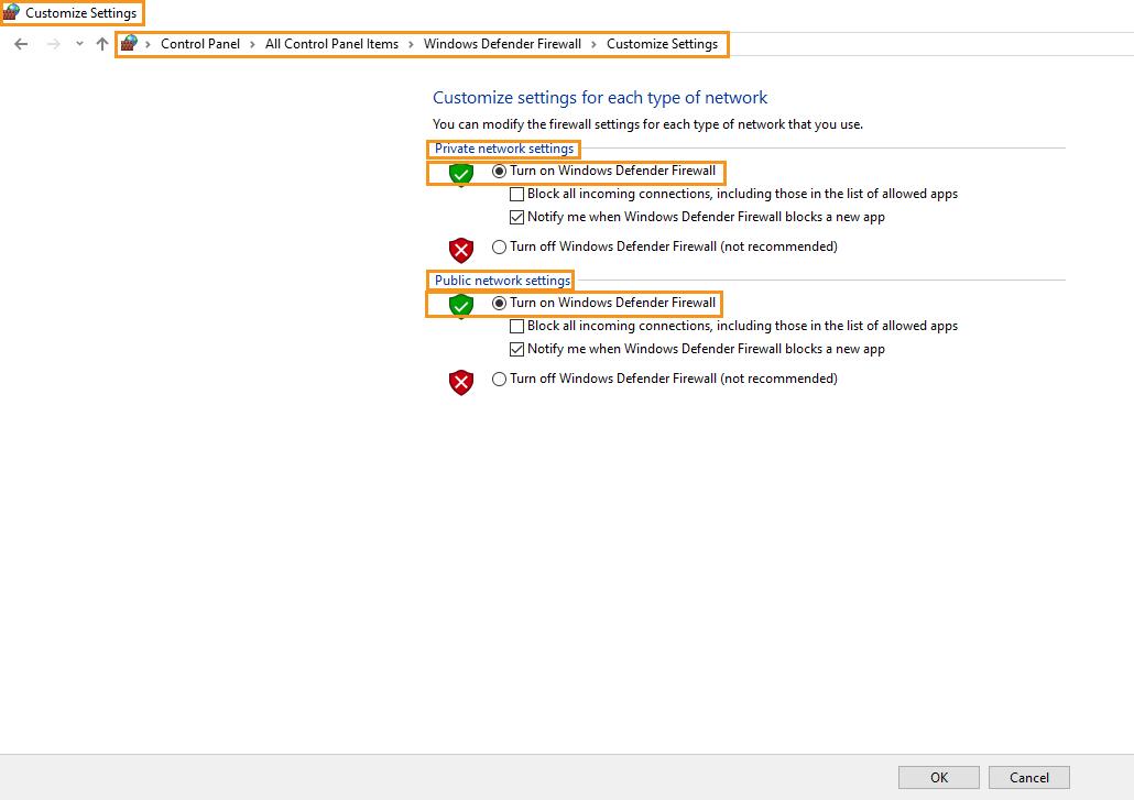 Initiate Windows Firewall