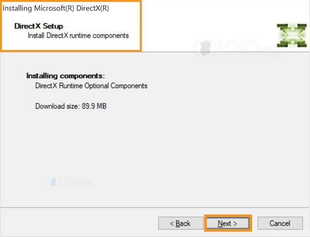 Install DirectX End-User Runtimes