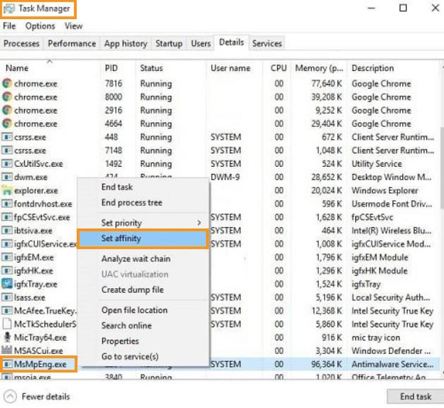 Manually Limit the MsMpEng.exe CPU Usage