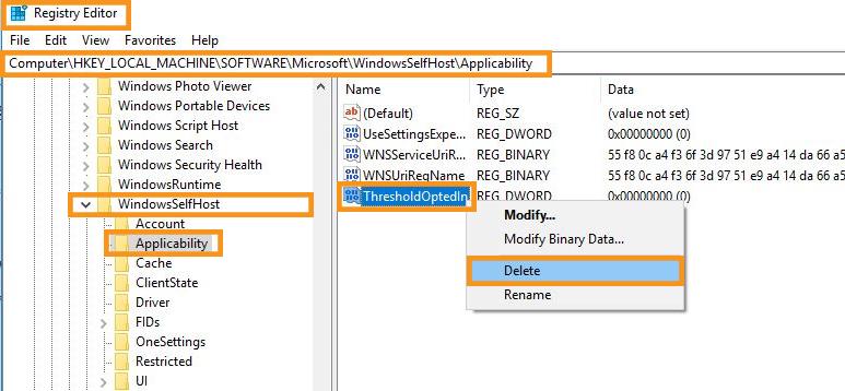 Modify Windows Registry