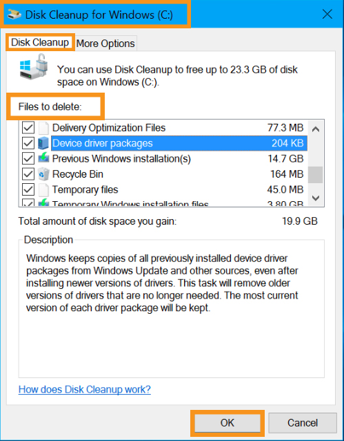 Perform a Disk Cleanup