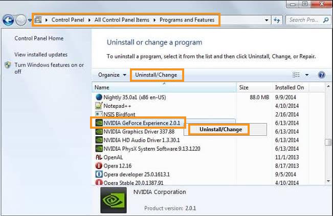 Reinstall NVIDIA Graphics Drivers