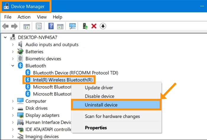 Reinstall the Bluetooth Driver