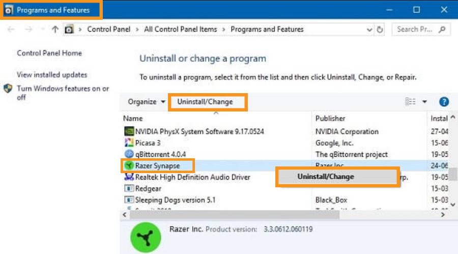 Reinstall the Software