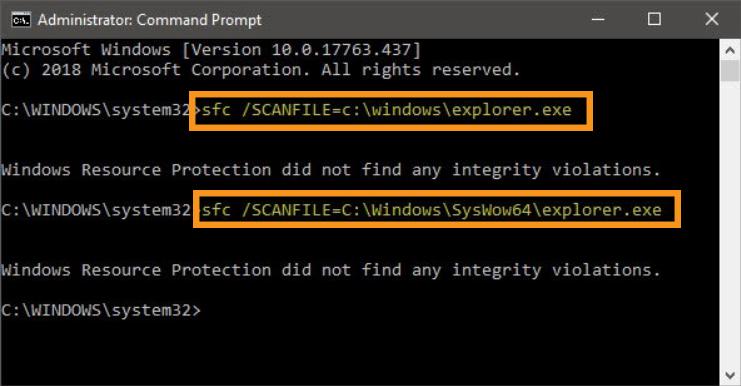 Repair Problematic File via Command Prompt