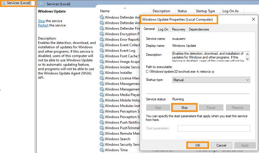 Reset the Windows Update Service