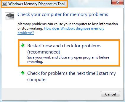 Run RAM Diagnostic Tool