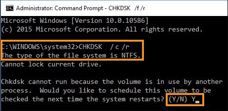 Run the CHKDSK Command
