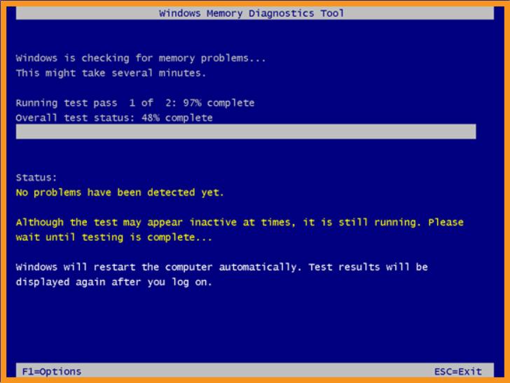 Run the Windows Memory Diagnostic Tool