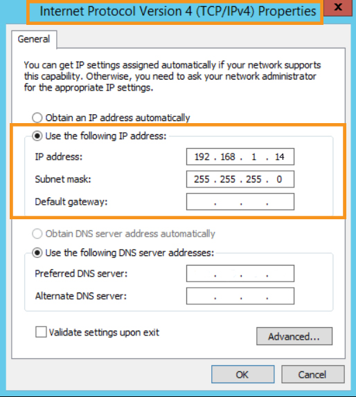 Set the IP Address Manually