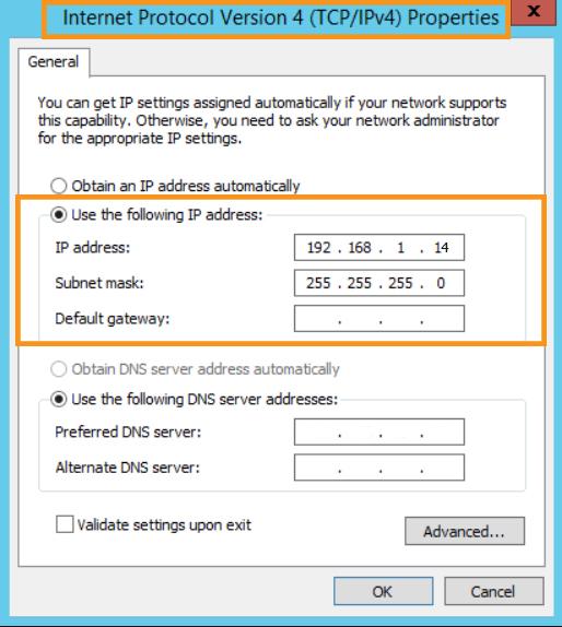 Set the IP Address Manually