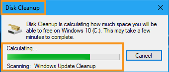 Through Disk Cleanup