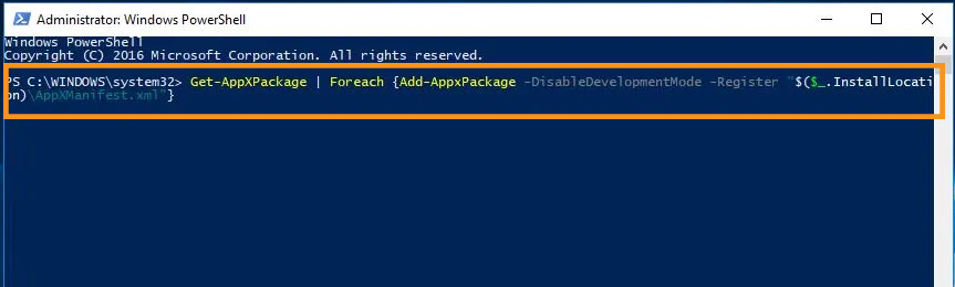 Try to Utilize the PowerShell