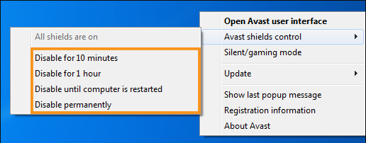 Turn Off the Antivirus Software