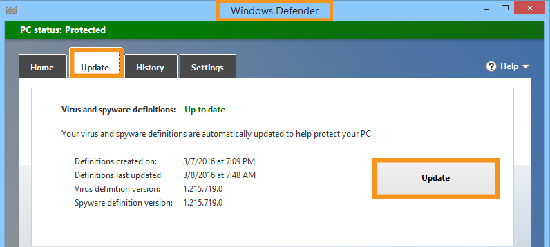 Update Antivirus and Scan Device