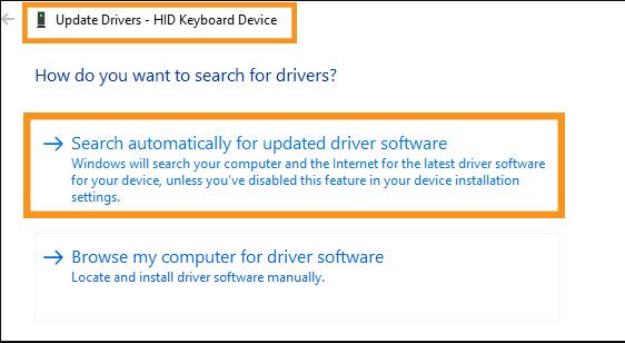 Update the Keyboard Drivers