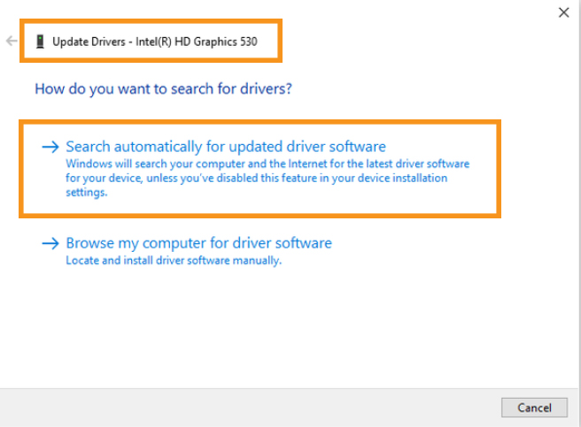 Update the Network Adapter Driver