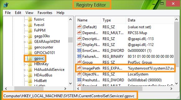 Use Registry Editor