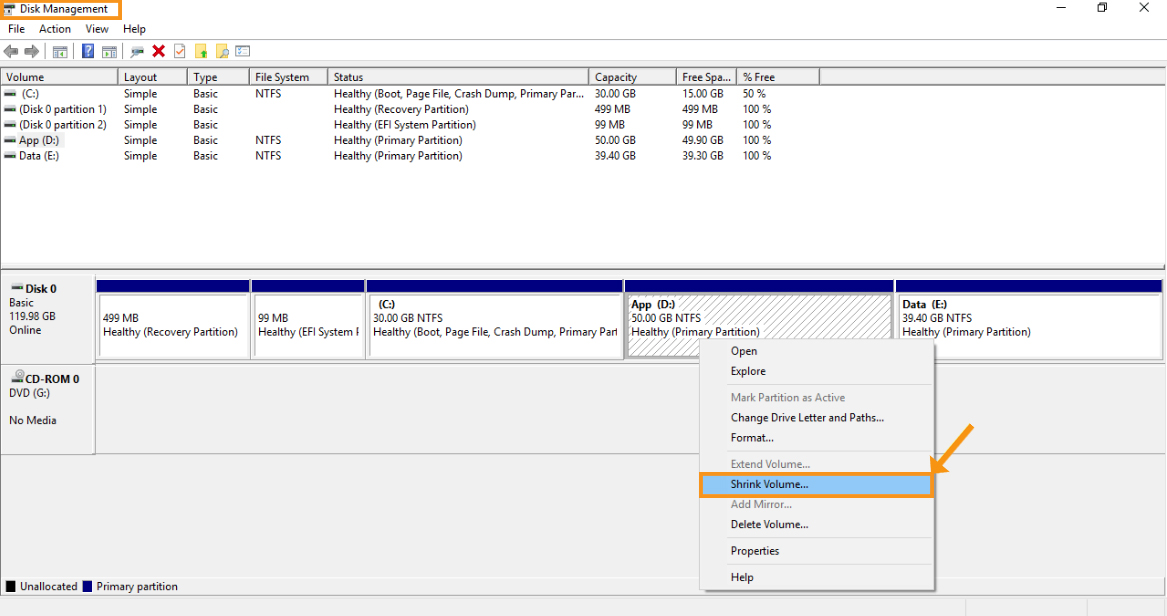 Use the Disk Management and Expand the System Reserved Partition