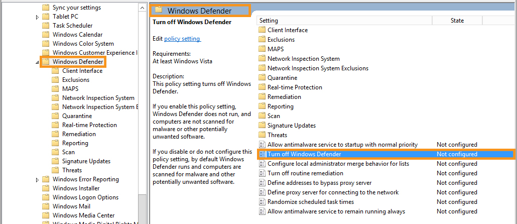 Using the Local Group Policy Editor