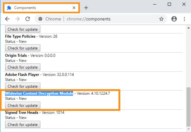 Widevine Content Decryption Module Needs to Update